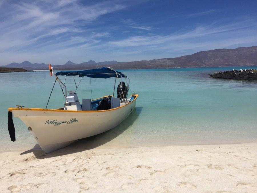 a dive boat parks at isla coronado
