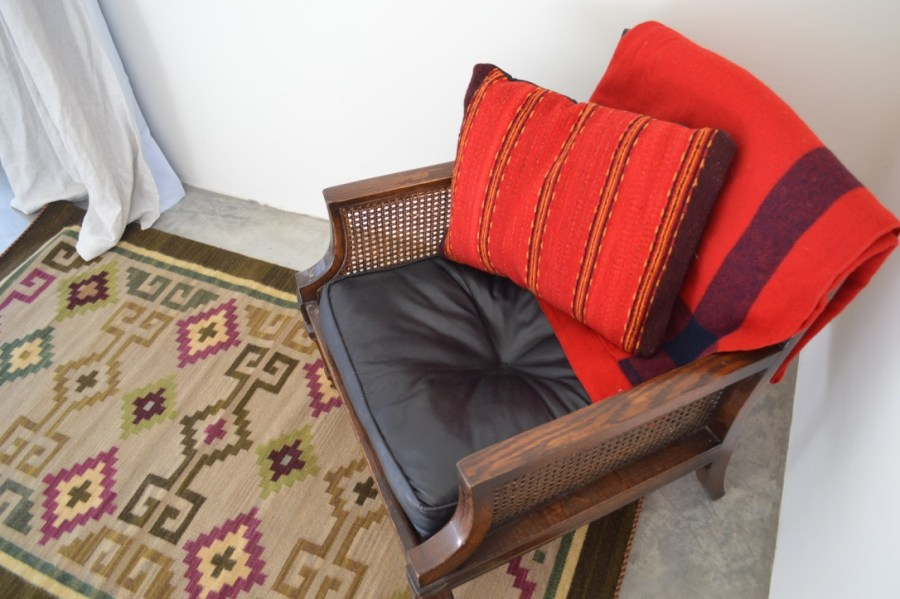 textiles from Oaxaca in a Mexican home