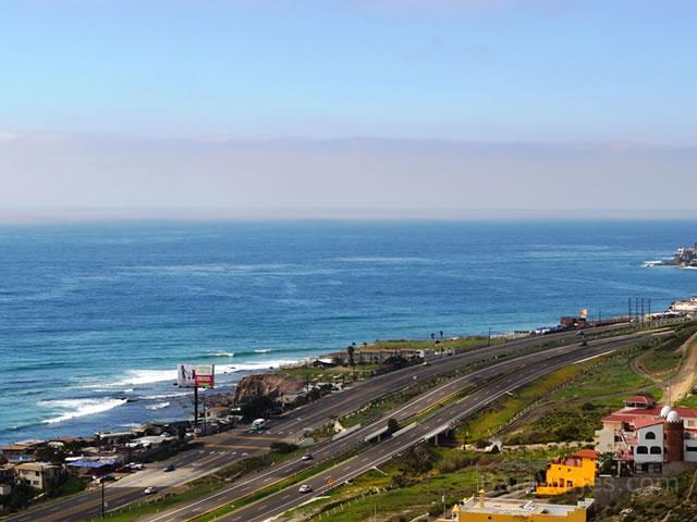 Panorámica de Playas de Rosarito, Baja California.