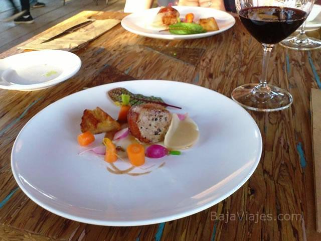 Platillos en Restaurante Corazón de Tierra, Valle de Guadalupe