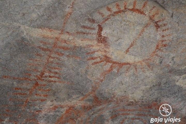 Pinturas Rupestres en el Sitio Arqueológico El Vallecito, en La Rumorosa, durante el Tour a Tecate, Baja California.