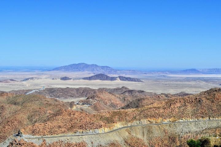 Vista panorámica desde La Rumorosa, en Tecate, Baja California