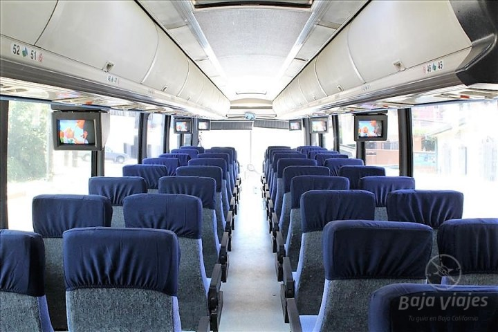 Interior de Autobús de Pasajeros