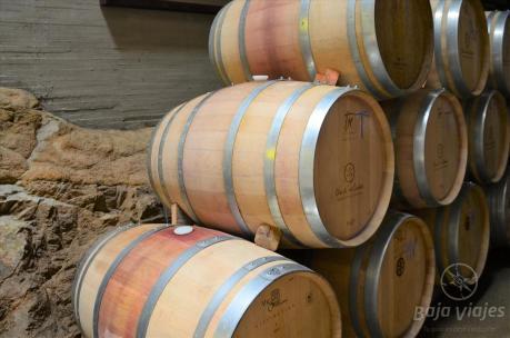 Barricas de vino en la Vinícola Clos de Tres Cantos