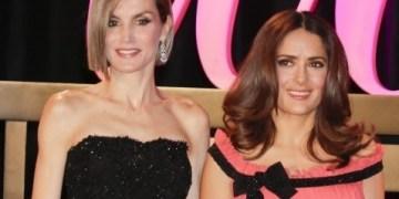 Reina Letizia premia a Salma Hayek por labor social en pro de la mujer 8