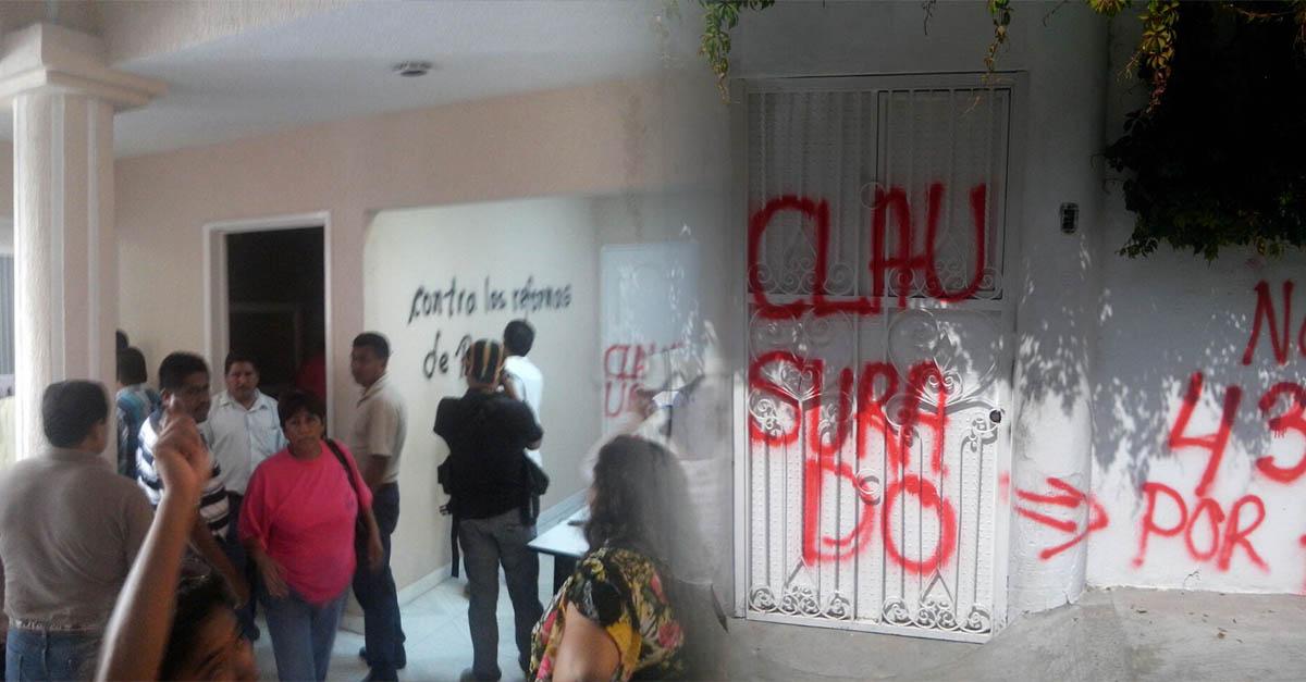 Rompe CETEG diálogo con gobierno de Guerrero; ataca oficinas de la SEG