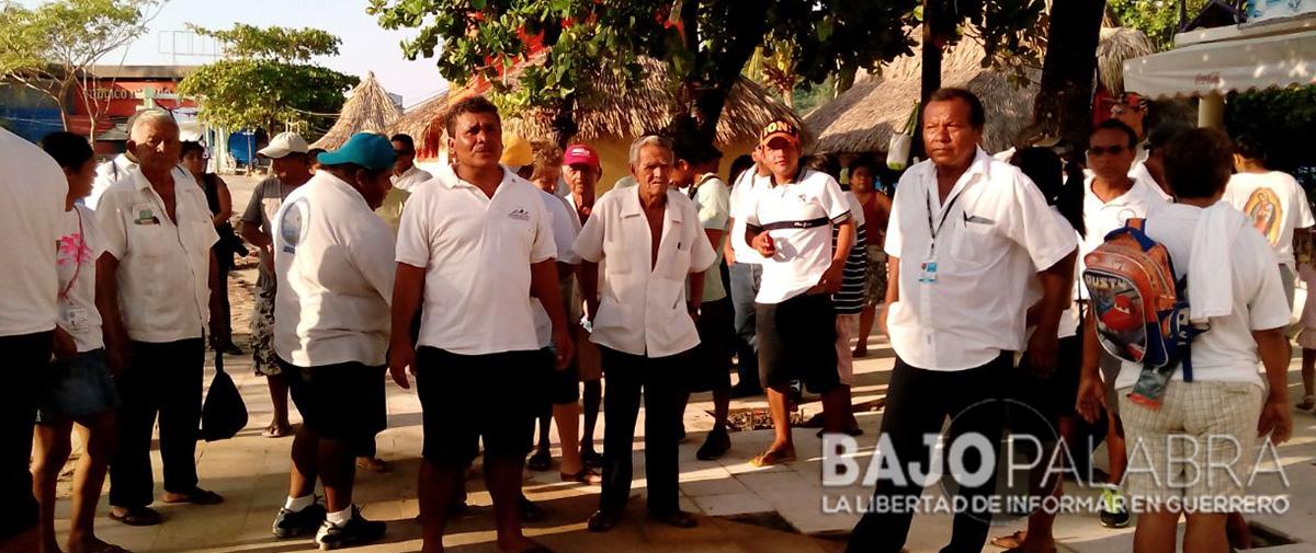 Exigen turisteros de Caleta pago prometido; paran obra de ventana ecológica