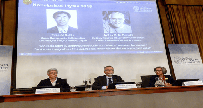 Investigadores de neutrinos ganan Premio Nobel de Física 2015