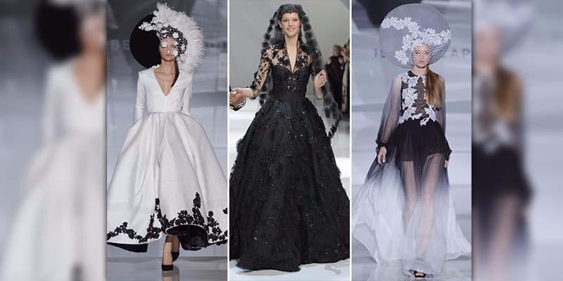 El negro promete ser tendencia en vestidos de novia