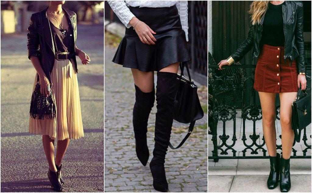 botas con falda