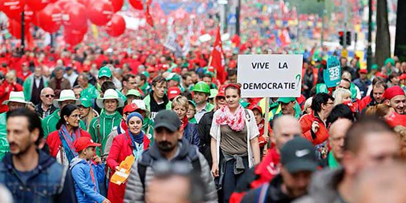 Aumenta indignación social contra reformas en Bélgica