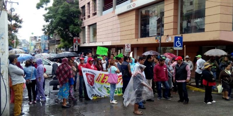 Sindicalizados denuncian amenazas de alcalde de Chilpancingo Leyva Mena