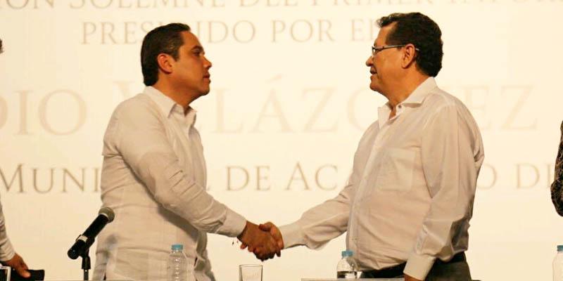 Rechazan Apreza y Evodio confrontación; revisarán préstamo de Acapulco