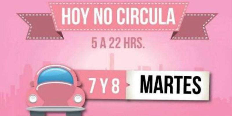 Hoy no circulan vehículos con holograma 1 y 2 con engomado rosa