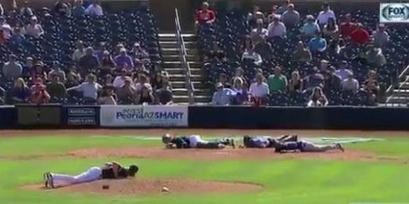 'Atacan' abejas a jugadores en pretemporada MLB [VIDEO]