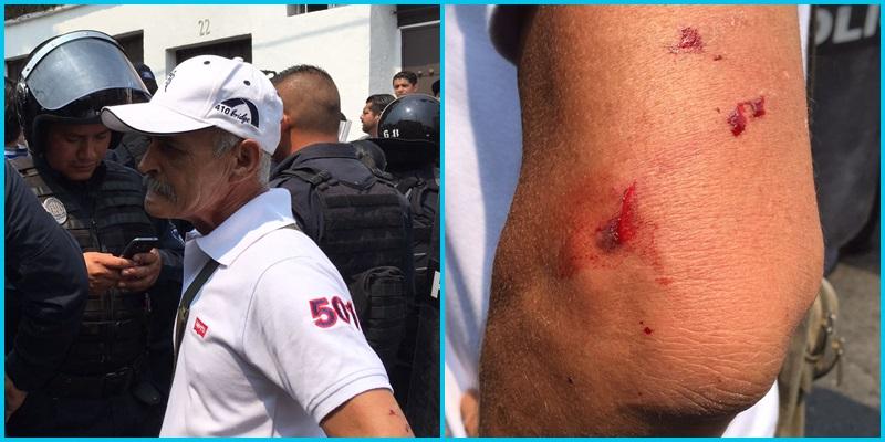 Trabajadores de Morelos exigen mejor salario; les responden con policías 2