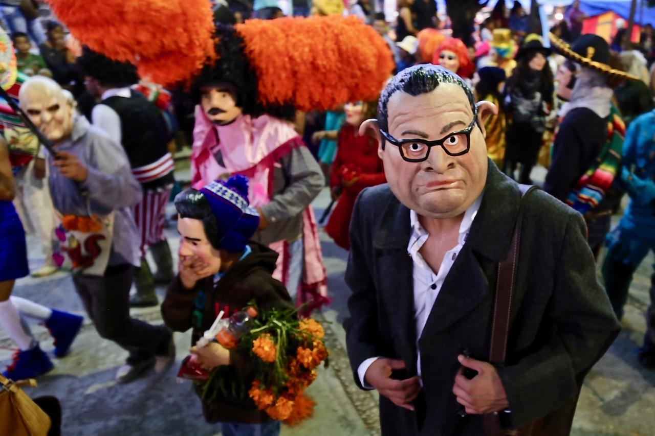 Difuntos regresan del más allá a la fiesta de la Huehuenchada 10