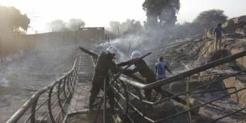 Incendio arrasa sitio arqueológico