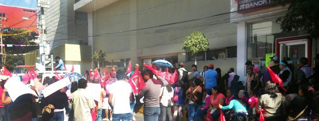 Protesta Antorcha Campesina en Chilpancingo