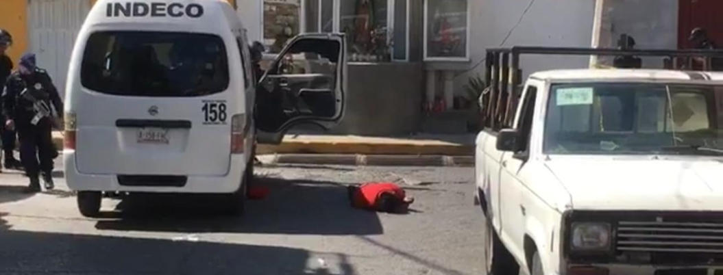 Asesinan a un chofer de urvan en Chilpancingo