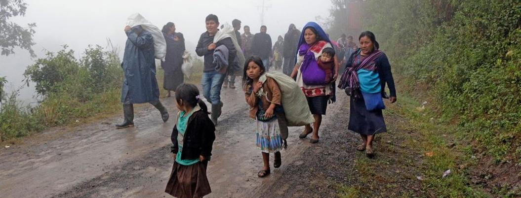 Indígenas desplazados en Chiapas no tienen comida