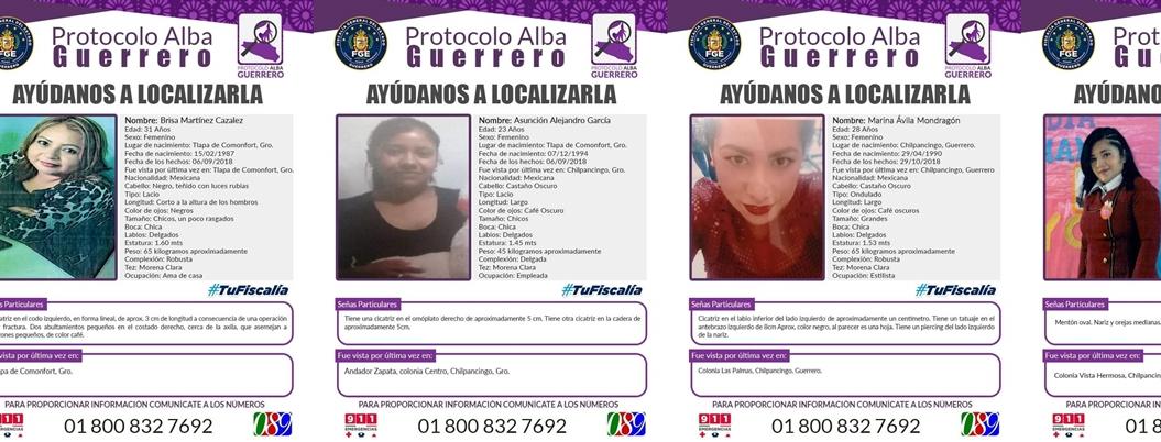 Desaparecieron tres mujeres en Chilpancingo; otra en Tlapa