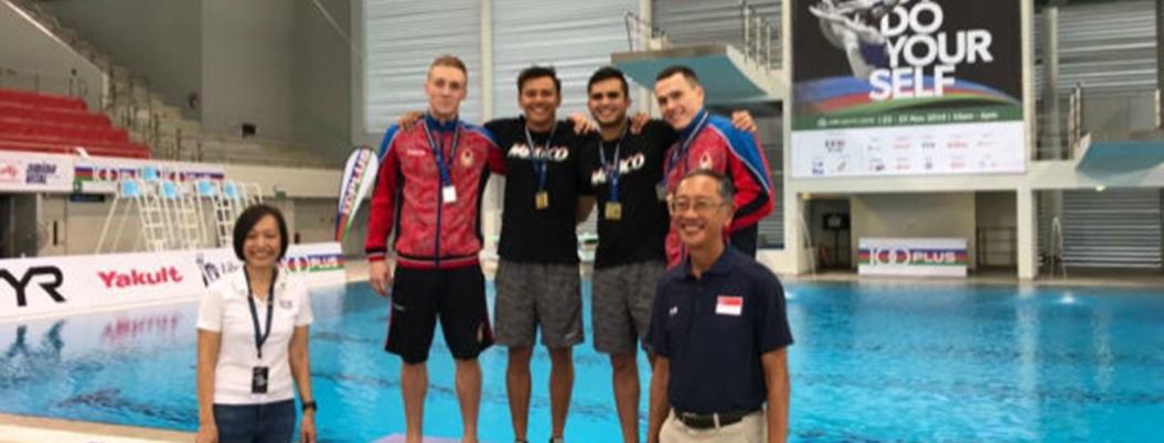 Clavadistas mexicanos ganan medalla de oro en Singapur