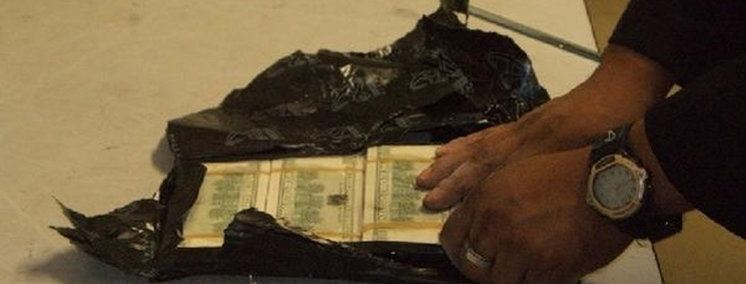 Arrestan a pasajero por intentar llevar 18 mil dólares sin declarar