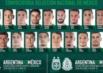 Chicharito y Memo quedan fuera de convocados para México-Argenina 3