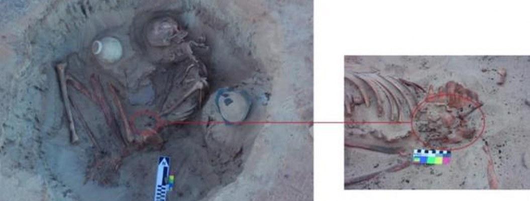 Hallan restos de mujer a punto a dar a luz en El Cairo