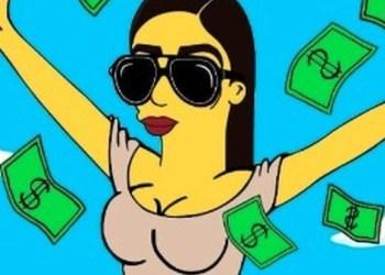 """Mira cómo Emma Coronel lanza billetes al estilo """"Los Simpson"""" 2"""