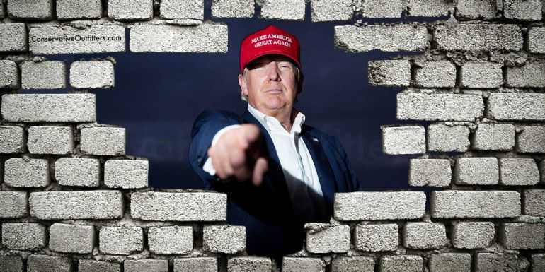 Sólo los tontos no quieren un muro que proteja su país: Trump