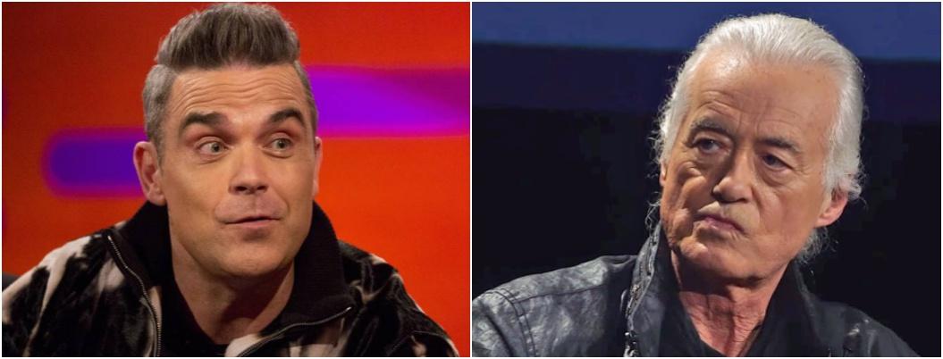 Robbie Williams amarga la vida a su vecino Jimmy Page con Pink Floyd