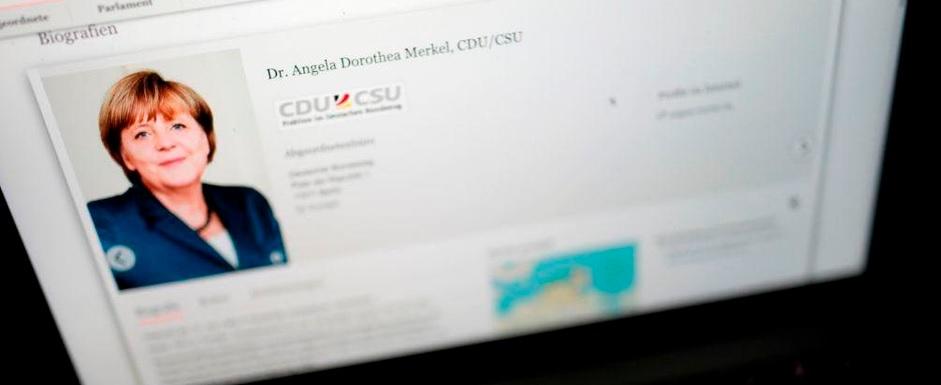 Ciberataque en Alemania revela datos de políticos y famosos