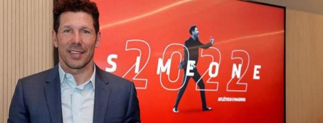 Simeone amplia contrato con Atlético de Madrid hasta 2022