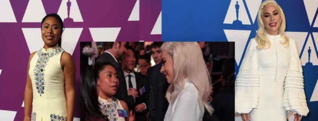Yalitza cotorreó sabroso con Lady Gaga en desayuno previo a los Oscar