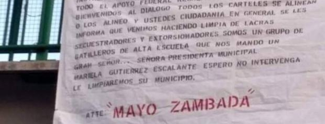 """""""Mayo"""" Zambada deja manta contra alcaldesa de Tecámac"""