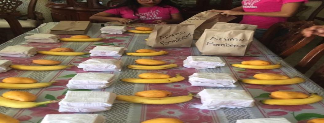 Activistas dan comida a bomberos que apagan incendios en Chilpancingo