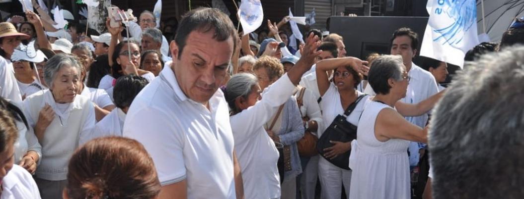 """""""Blanco debería dar seguridad, no andar marchando"""": PRD Morelos"""