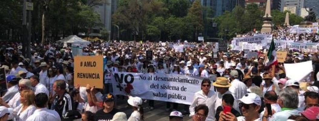 Marchan contra AMLO 15 mil personas en CDMX; en 9 ciudades protestaron