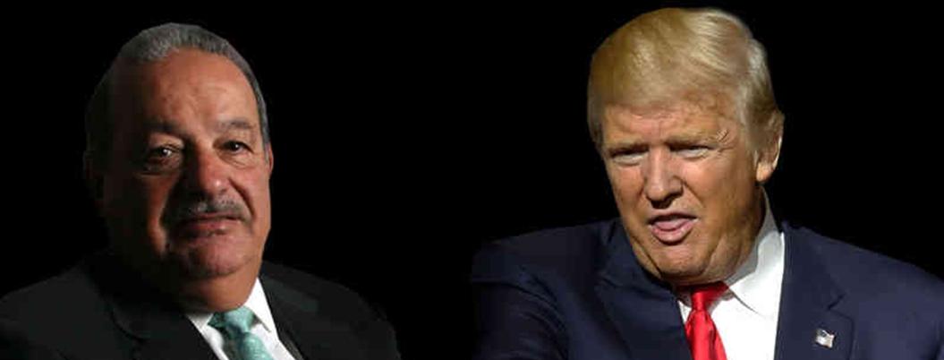 Slim se pone del lado de AMLO ante rabietas de Trump