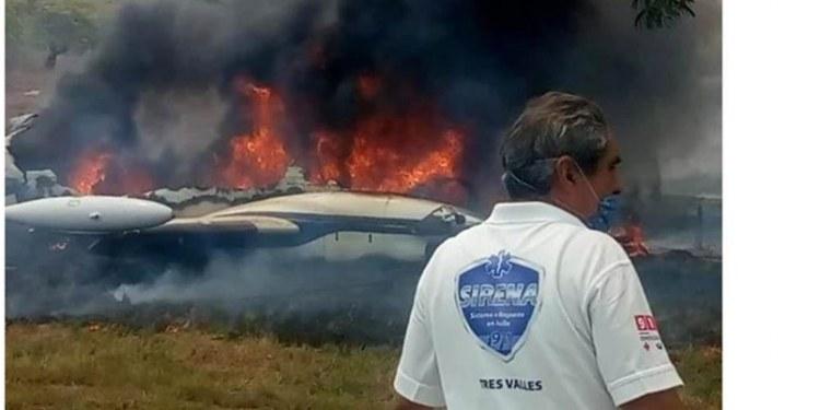 Accidente de avioneta en Veracruz