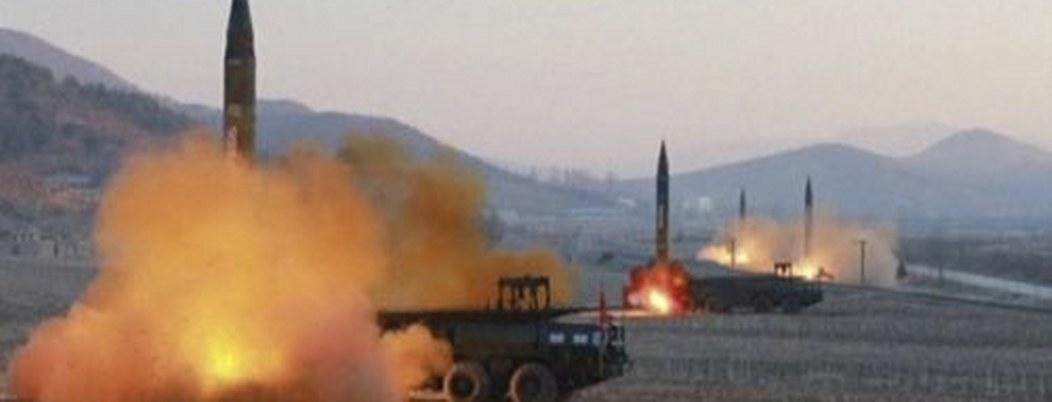 Corea del Norte disparó misiles de corto alcance para retar a EU