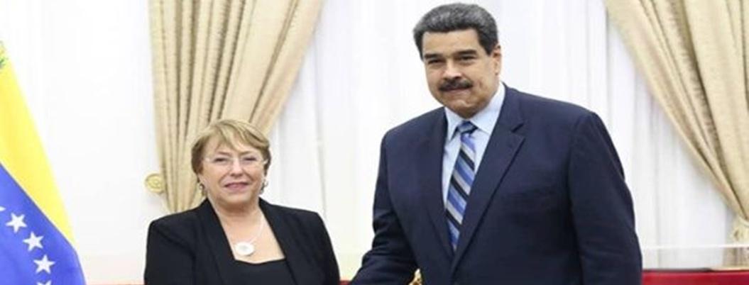Bachelet le pide a Maduro que libere a presos políticos