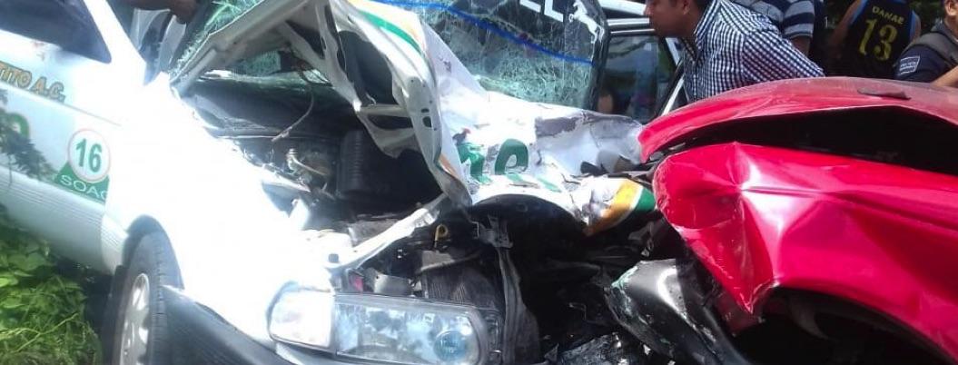 Accidente de auto deja un muerto y seis lesionados en Tierra Colorada