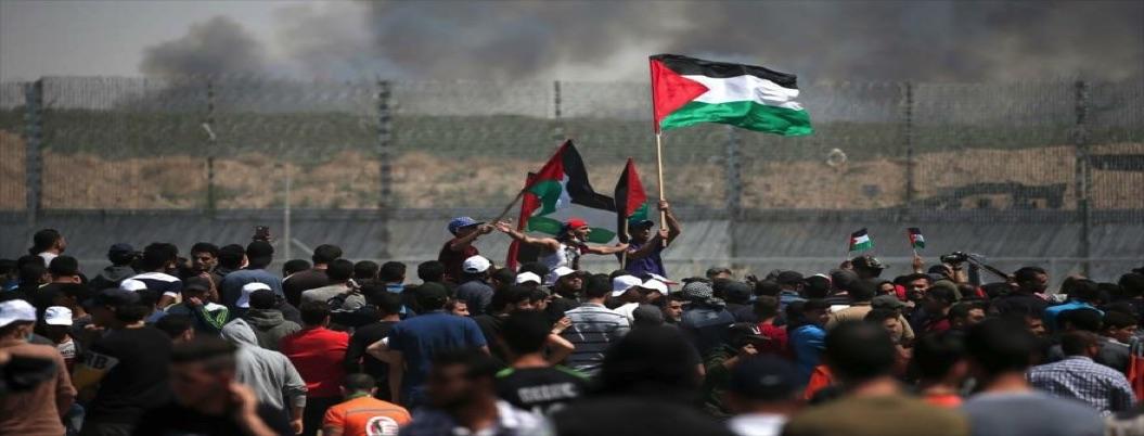 Palestinos manifiestan su repudio al plan de ayuda estadounidense
