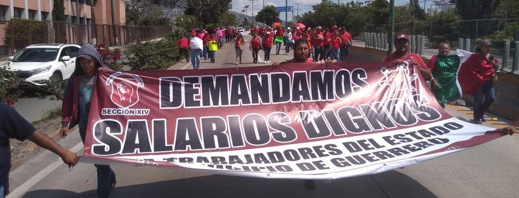 Sindicato independiente planta cara a alcalde de Chilpancingo