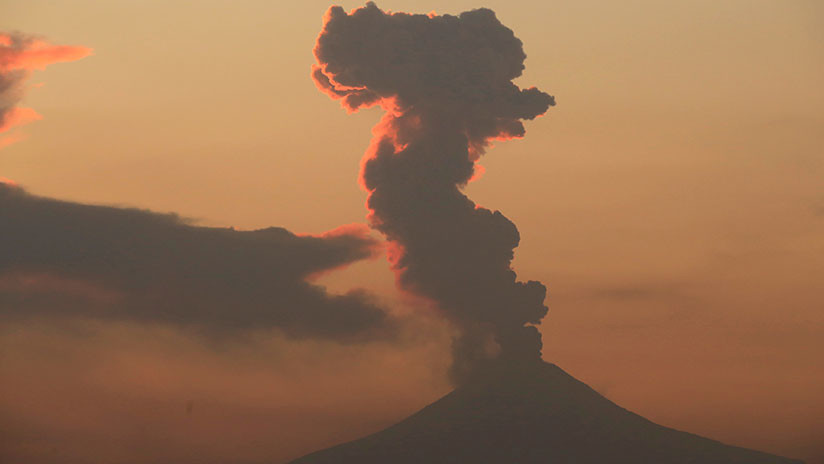 Así se vio desde el espacio la explosión del Popocatépetl | VIDEO