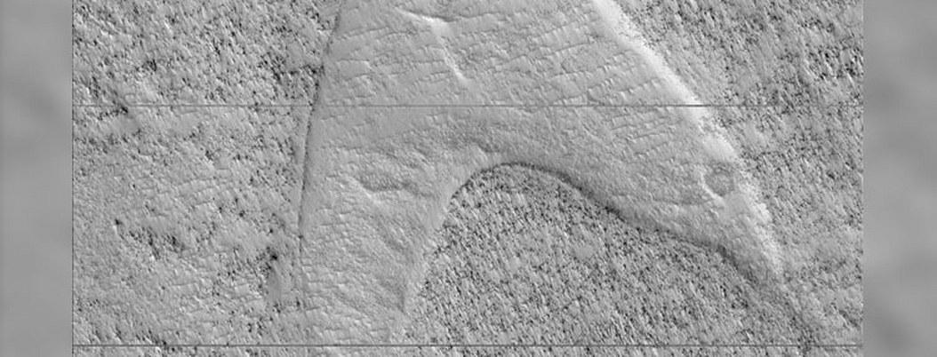 NASA encuentra símbolo de Start Trek en el suelo marciano