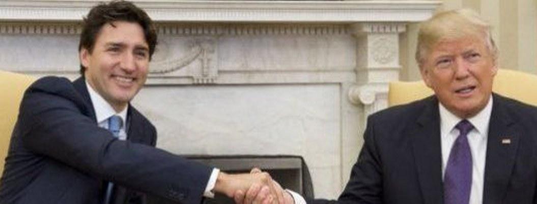 Trump y Trudeau se reúnen en la Casa Blanca para hablar del T-MEC